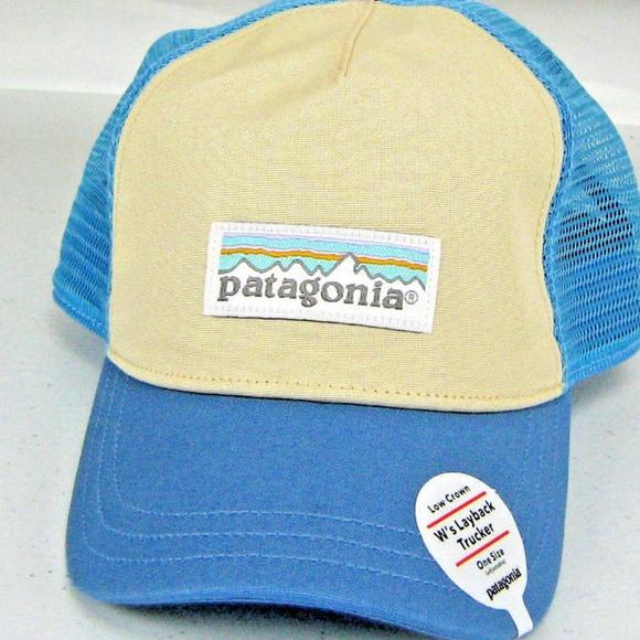 bce5d83f Patagonia Accessories | Pastel P6 Label Layback Trucker Hat | Poshmark